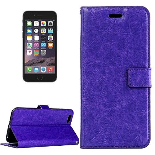 Accesorios para teléfonos móviles Para iPhone 6 Plus y 6S más Crazy Horse Texture Horizontal Flip Funda de cuero con hebilla magnética y soporte y ranuras para tarjetas y marco de la fotografía Casos