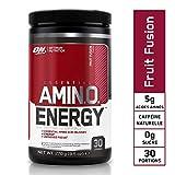 Optimum Nutrition Amino Energy, Pre Workout Booster Avec Bêta-Alanine, Cafeine, Acides Aminés et Vitamine C, Fruit Fusion, 30 Portions, 270 g