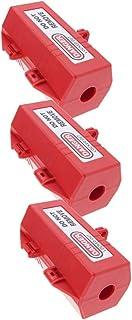 Perfk 3 Pcs Large Plug Lockout Device, Accommodates Up to 4 Padlocks
