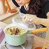 Sartén antiadherente Dia 18 cm Esmaltado Sopa Fideos Olla antiadherente con tapa Utensilios de cocina 1.5l Leche Olla de cocina para cocina de inducción, Cocina de gas