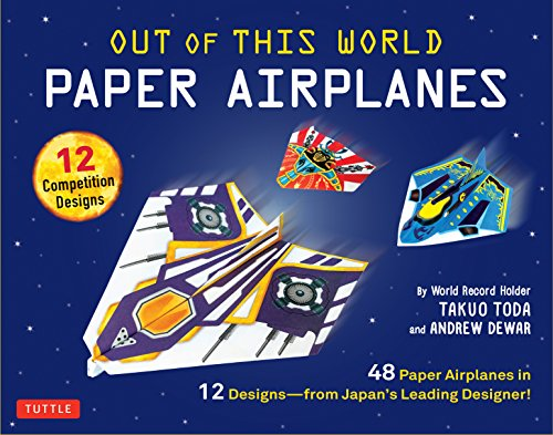 Out of This World Paper Airplanes Kit: 48 Paper Airplanes in 12 Designs from Japan's Leading Designer
