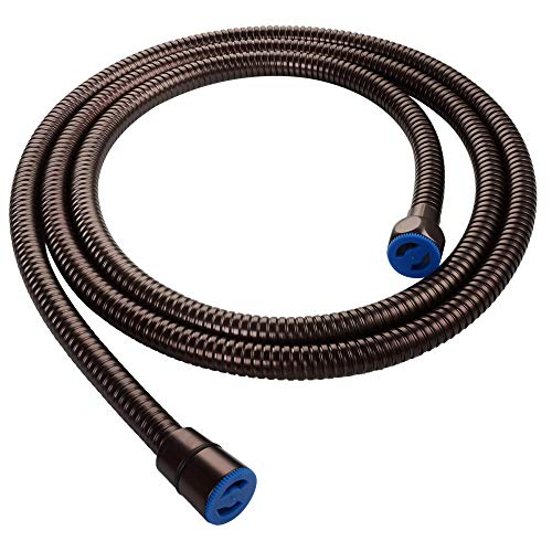 """Hand Shower Hose 59"""", Angle Simple Flexible Stainless Steel Shower Head Hose, Handheld Shower Sprayer Replacement Hose, Oil Rubbed Bronze"""