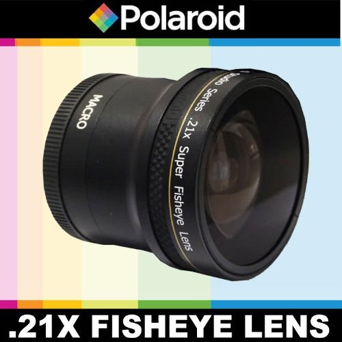 Polaroid Studio Series .21x Super Fisheye Lens With Macro Attachment, Includes Lens Pouch and Cap Covers For The Pentax K-3, K-50, K-500, K-01, K-30, K-X, K-7, K-5, K-5 II, K-R, 645D, K20D, K200D, K2000, K10D, K2000, K1000, K100D Super, K110D,ist D,ist DL,ist DS,ist DS2 Digital SLR Cameras Which Has Any Of These (55-300mm, 75-300mm, 18-50mm, 28-80m...
