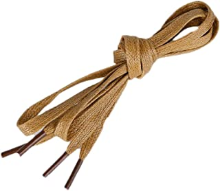Flat Waxed Shoelaces for Dress Shoes Leather Boots(2 Pair)