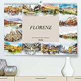 Florenz Hauptstadt der Toskana(Premium, hochwertiger DIN A2 Wandkalender 2020, Kunstdruck in Hochglanz): Die Stadt Florenz in Aquarell (Monatskalender, 14 Seiten )
