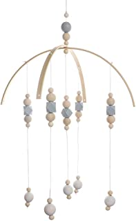 Wooden Wind Chime Crib Baby Bedroom Bed Bell Ceiling Beads Hanging Ornament Pendant