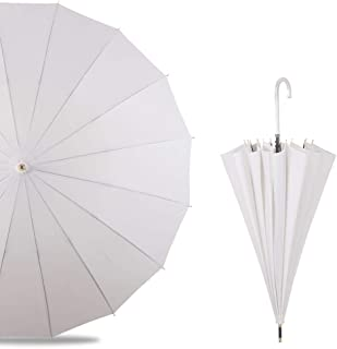 LPKH Umbrella Classic Umbrella Windproof Waterproof, Extra Strong Umbrella with Reinforced Windproof Frame, Portable Umbrella for Women and Men (Color : Beige)