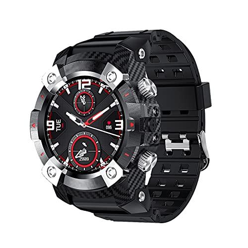 Smartwatch Reloj Inteligente Con Doble Auricular Bluetooth 360 * 360 Pantalla HD Rastreador De Actividad Física Táctil Completo Hombres Mujeres Reloj Inteligente Para Teléfonos Iphone Android,Rojo
