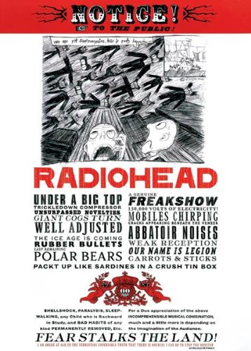 Pyramid America Radiohead-Fear Stalks the Land, Art Poster Print, 24 by 36-Inch