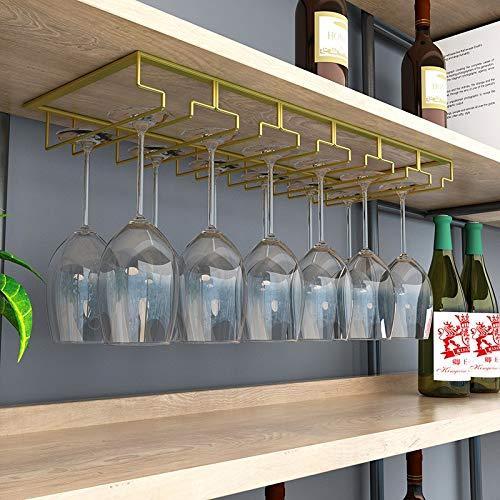 Stemware rack onder kast houder opknoping wijnglas rek onder plank metalen champagne glas rek wijnglas organisator voor bar keuken