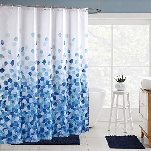 X-Labor Wasserabweisend Duschvorhang 240x200cm Dick Textil Stoff Anti-Schimmel inkl. 12 Duschvorhangringe Waschbar Badewannevorhang 240x200cm Muster-A