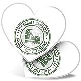 Impresionante pegatinas de corazón de 7,5 cm – Pegatinas divertidas para viajes, senderismo, montañismo, para portátiles, tabletas, equipaje, libros de chatarras, neveras, regalo genial #4797
