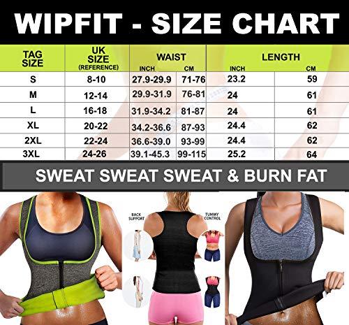 WIPFIT Women Waist Trainer Vest Slim Corset Neoprene Sauna Tank Top Zipper Weight Loss Body Shaper Shirt (Black, L)