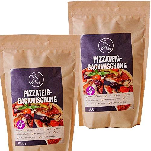 Glutenfrei Vegane Backmischung für Pizzateig zum selber backen | 100{1abe1e4dfb5b6d91dbf53cb60625da94f61908c7703a2335934181594b031e96} glutenfrei | laktosefrei | Doppelpack 2x 1000g | Szafi Free