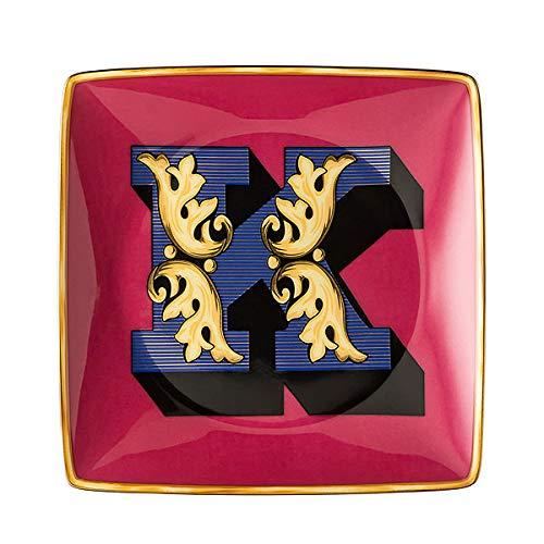 Versace by Rosenthal - Schale, Teller, Schälchen - Holiday Alphabet - K - 12 x 12 cm - Porzellan