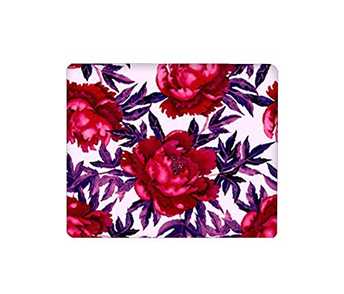 Mouse Pad Rectangular Mouse Mat Cute Mouse Pad with Design Non Slip Rubber Base Mousepad with Stitched Peony Flowers Rose Lily Daisy Jasmine Camellia babybreath Sunflower~Q7