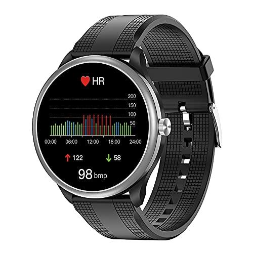 ZGZYL M10 Lady Smart Watch Bluetooth Llamar A Bluetooth Reproductor De MP3 Respiración Blood Oxígeno Temperatura Presión Arterial ECG Monitoreo De Ritmo Cardíaco Ejercicio Pedómetro,B