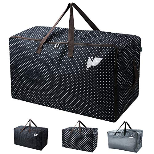 Waterproof Over-sized Christmas, Festival Decorations Organizer Storage Bag, Travel Duffel Bag, Back to School Carry Bag, Washable (70*42*35cm), Black