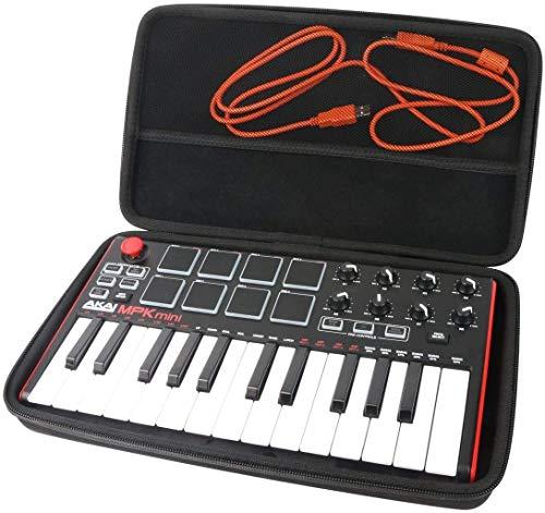 Khanka Tasche Schutzhülle Für Akai Professional MPK Mini MKII MK2/MK3/Mini Play Kompakter USB MIDI Keyboard & Pad Controller.(nur tasche))