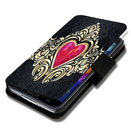 Book Style Flip Handy Tasche Hülle Schutz Hülle Schale Motiv Etui für Wiko Stairway - Flip 1A52 Design12