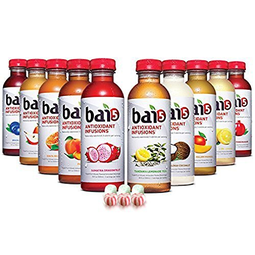 Bai5, 5 calorie HEALTHY Variety Pack, 100% Natural, Antioxidant Infused Beverage, 18-Ounce Bottles ( 10 Pack ) by bai
