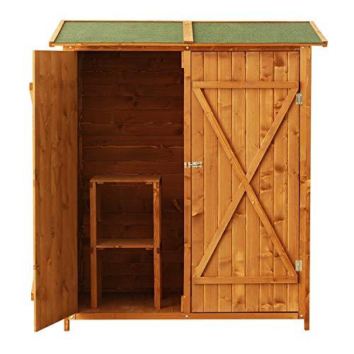 miozzi Casetta Box da Giardino in Legno Naturale 160x125 cm