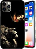 Compatible with iPhone 12 Pro Max Case,Lion Butterfly Creative Pattern for Man Girls Case,Soft TPU Shockproof Full Body Protection Case for iPhone 12 Pro Max 6.7 Inch