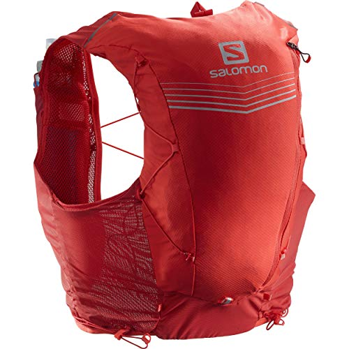 Salomon Advanced Skin 12 Set Unisex Trail Running Vest Backpack, Goji Berry, Medium