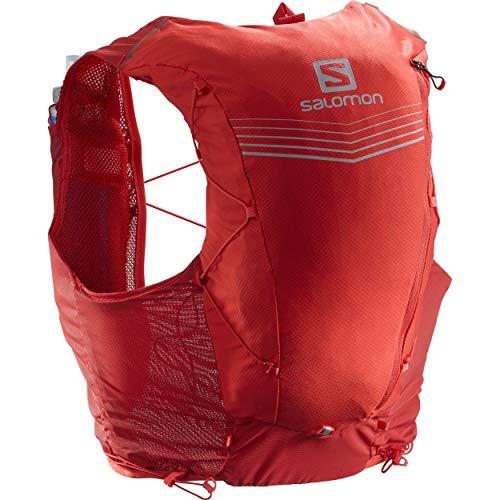 Salomon Advanced Skin 12er-Set Unisex Trail Running Weste Rucksack, Goji Beere, XS