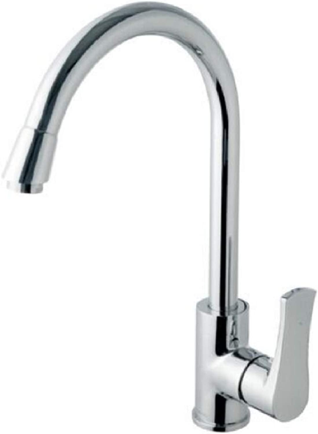 BABATD Klassische Single Handle Commercial Kitchen Sink Wasserhahn Messing 360 Grad Swivel Single Mixe Wasserhahn, Chrom