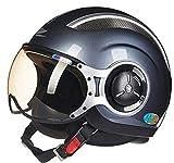 UCKSL Zeus Taiwán Casco de Moto Casco de Moto 3/4 Medio casco218c color9 M