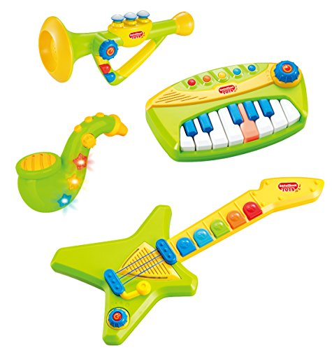 Liberty Imports 4-Piece Band Musical Toy Instruments Playset...