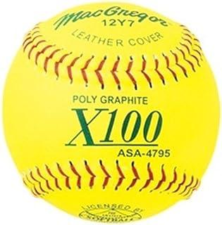 MacGregor ASA Fast Pitch Softball, 12-inch (One Dozen)