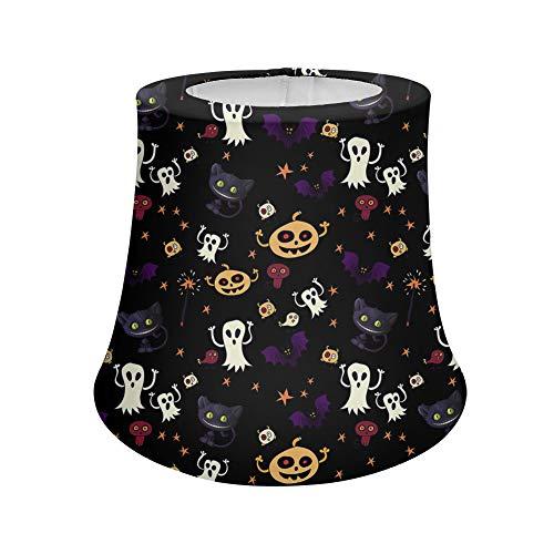 UOIMAG Halloween-Schreibtischlampe mit Kürbis-Geister, schwarze Katze, für Schlafzimmer, Wohnzimmer, Bodenleuchten, Nachttische, Kommode, hoch dehnbarer Polyester-Stoff, kleine Größe
