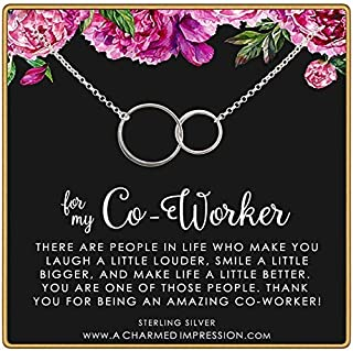 Coworker Gift • 925 Sterling Silver Necklace • 18 Inch Chain • Appreciation for Colleague, Employee, Admin Assistant, Manager, Supervisor, Boss • Work Friendship • Gratitude Jewelry