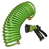 Best Coil Garden Hoses - Centurion Polyurethane Coil Hose and 6 Pattern Spray Review