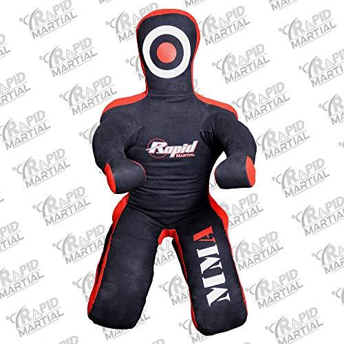 Muñeco rápido para artes marciales combate judo karate boxeo artes marciales judo sentado 5 pies sin relleno Rapid-10800, negro