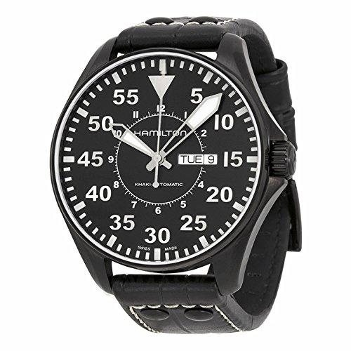 Gifts and Jewels Co. Hamilton Hamilton kaki Re Pilota Automatico Mens Orologio H64785835