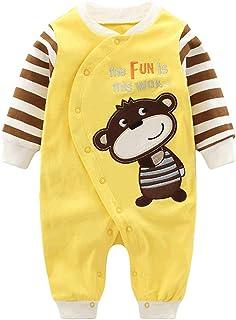 77ed7402f05a6 Vine Pyjama Bébé Fille Garçon Grenouillère Combinaisons en Coton Bouton à  Manches Longues Chaud Pyjama Déguisement