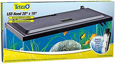 Tetra LED Hood 19.3125 Inches By 9.375 Inches By 2.5 Inches, Low-Profile aquarium Hood With Hidden Lighting