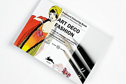 Art Deco Fashion: Postcard Colouring Book / Postkarten - Malbuch