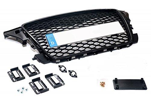 Kühlergrill Sportgrill Waben Gitter mit Kennzeichenhalter Befestigung (Fahrzeugspezifisch)