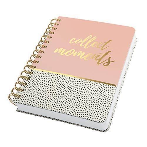 SIGEL JN601 Spiralblock Notizblock Bullet Journal Jolie, ca. A5, dot-Lineatur, 240 Seiten, rosa/weiß, für Frauen und Mädchen - weitere Modelle