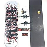 JSJJAES Skateboards Zero Skateboard Deck Professional Nivel 7 Capas Canadiense Maple 8.5 Pulgadas Múltiples Cubiertas de Color Double Rocker (Color : One Set)