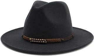 SHENTIANWEI Wide Brim Wool Felt Jazz Fedora Hats For Men Women British Classic Trilby Party Formal Panama Cap Floppy Hat