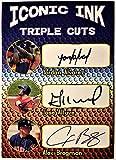 2019 YORDAN ALVAREZ, JOSE ALTUVE, ALEX BREGMAN Baseball Card - Houston Astros Iconic Ink Custom Baseball Card - Facsimile Autograph!