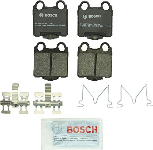 Bosch BP771 QuietCast Premium Semi-Metallic Disc Brake Pad Set For Lexus: 1998-2005 GS300, 1998-2000 GS400, 2001-2005 GS430, 2001-2005 IS300, 2002-2010 SC430; Rear