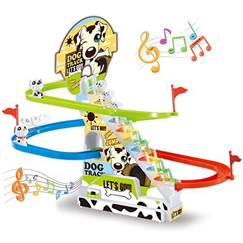 Liberty Imports Dalmatian Puppy Spotty Dog Chasing Race Track Game Set -...