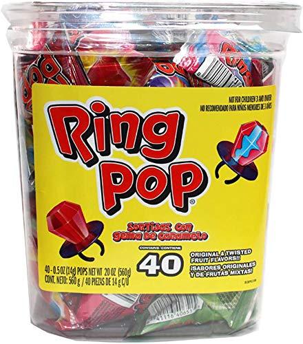 Dulces Ring Pop (40 Pzs)