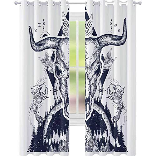 YUAZHOQI - Cortinas opacas para sala de estar (132 x 241 cm)